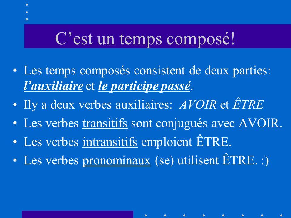 C'est un temps composé! Les temps composés consistent de deux parties: l'auxiliaire et le participe passé.