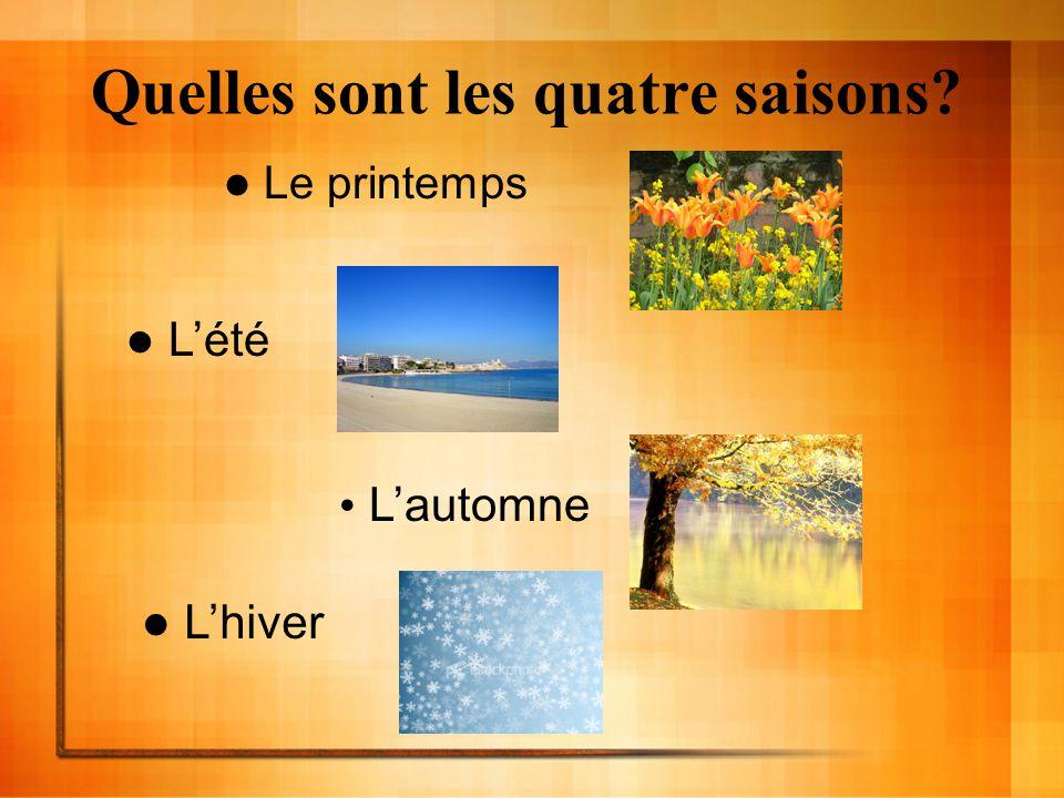 Quelles sont les quatre saisons