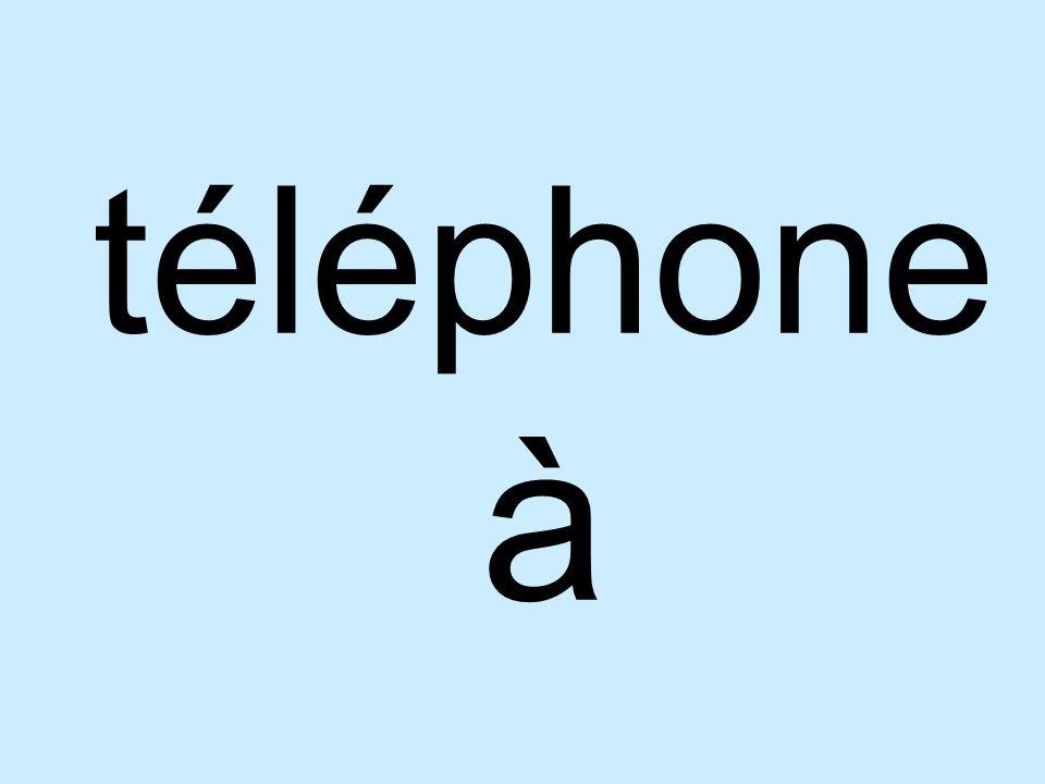 téléphone à