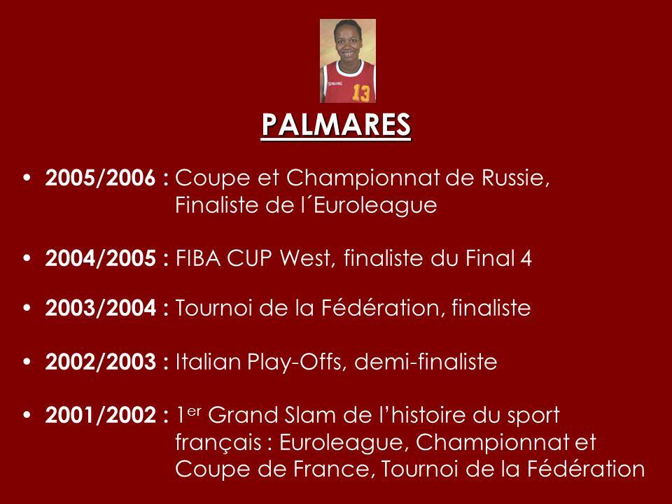PALMARES 2005/2006 : Coupe et Championnat de Russie,