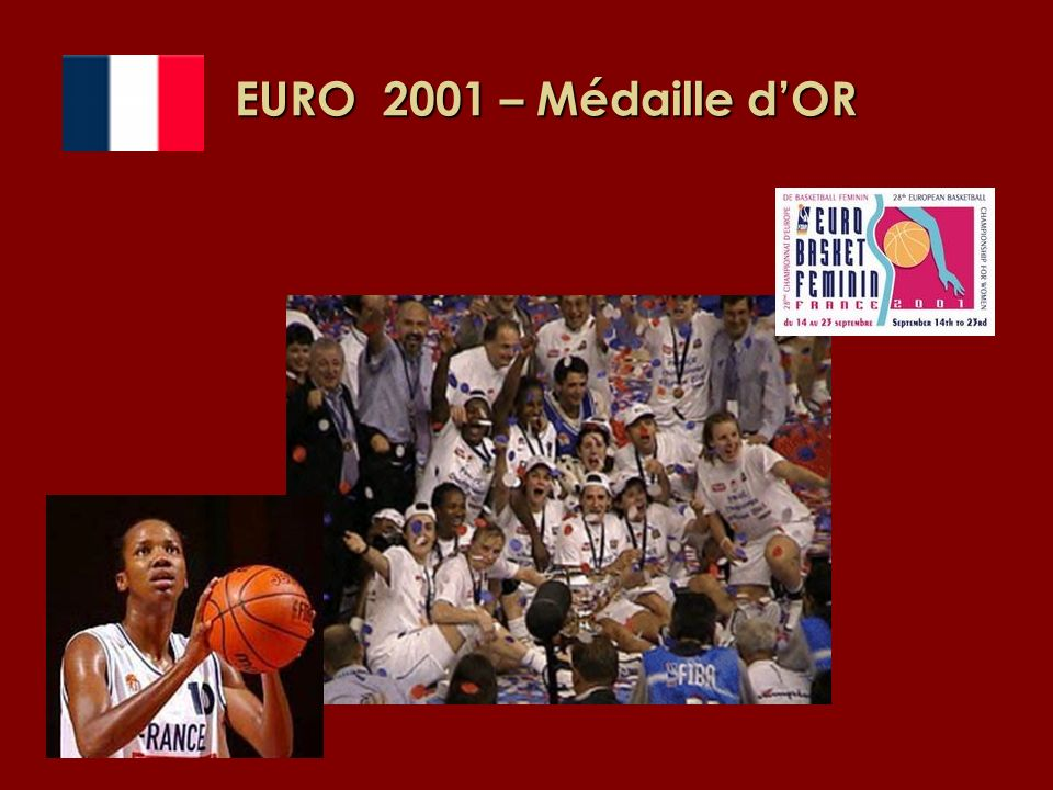 EURO 2001 – Médaille d'OR