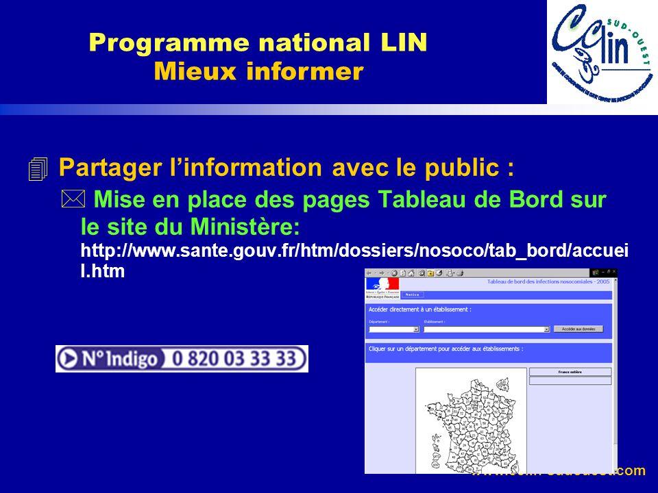 Programme national LIN Mieux informer