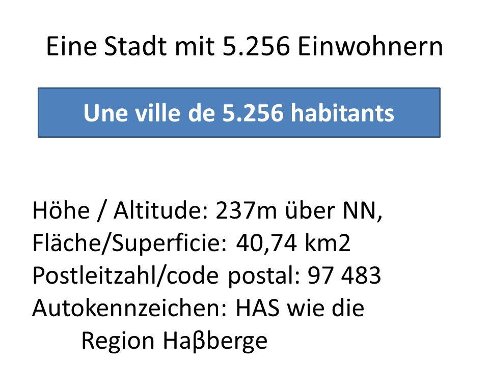 Eine Stadt mit 5.256 Einwohnern