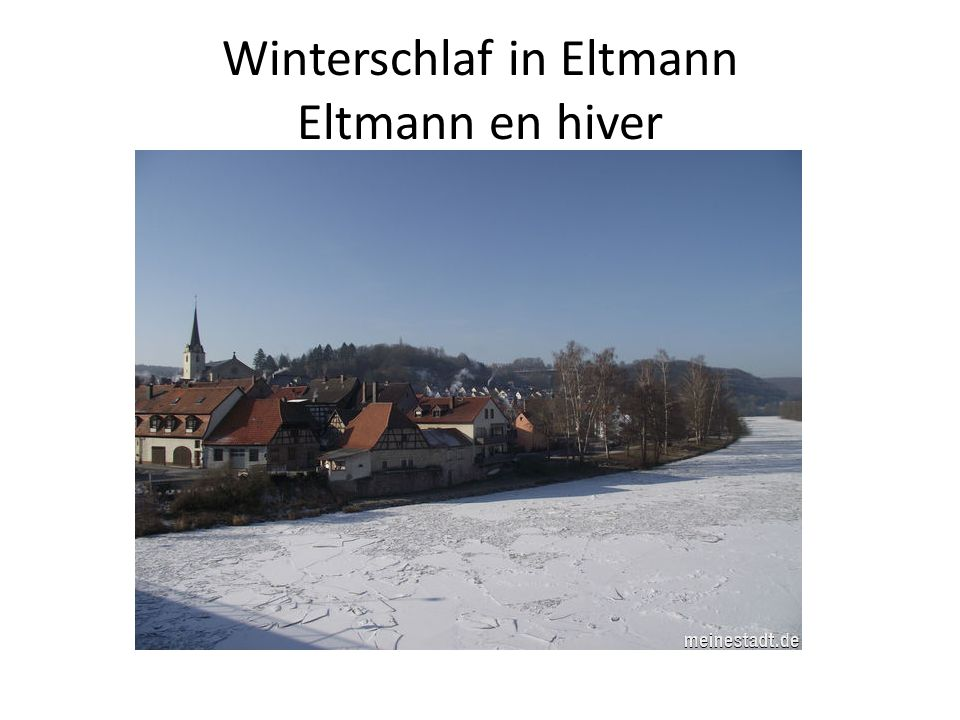 Winterschlaf in Eltmann Eltmann en hiver