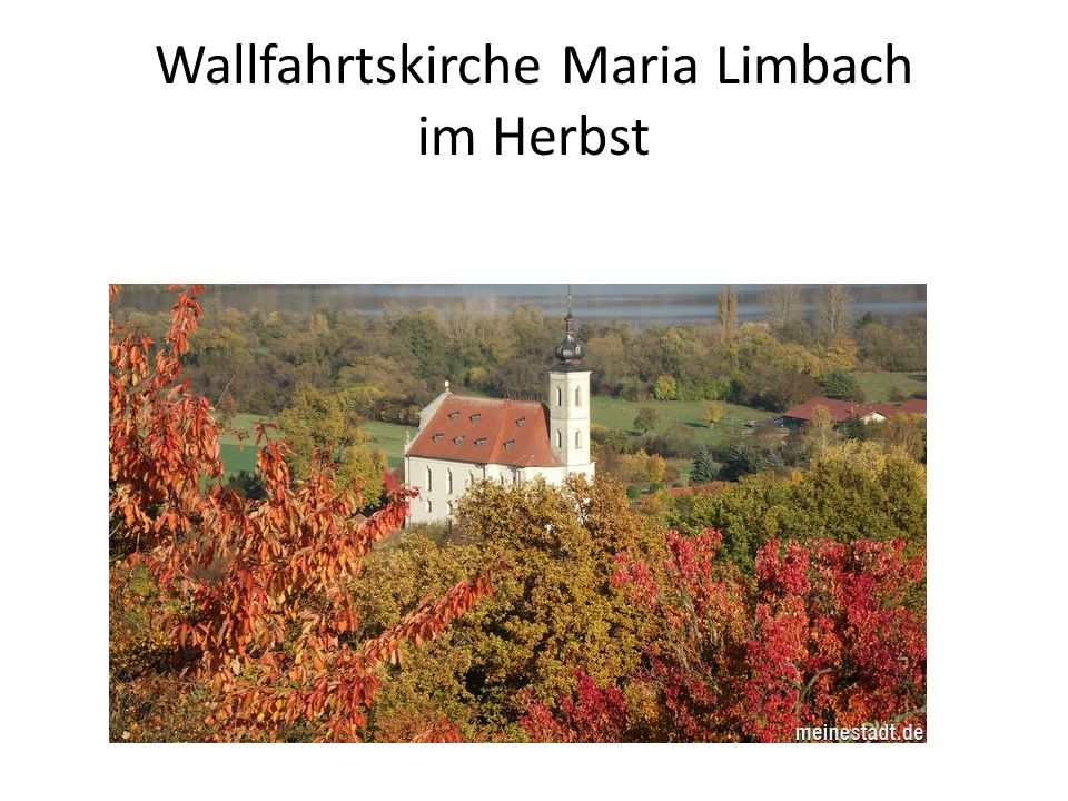Wallfahrtskirche Maria Limbach im Herbst