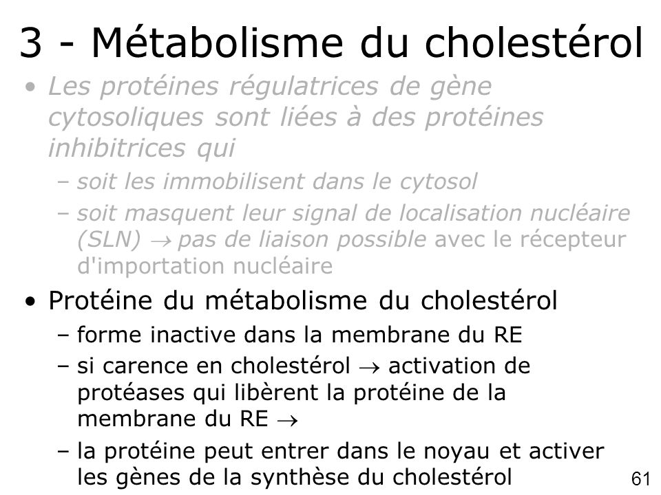 3 - Métabolisme du cholestérol