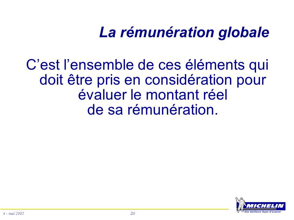 La rémunération globale
