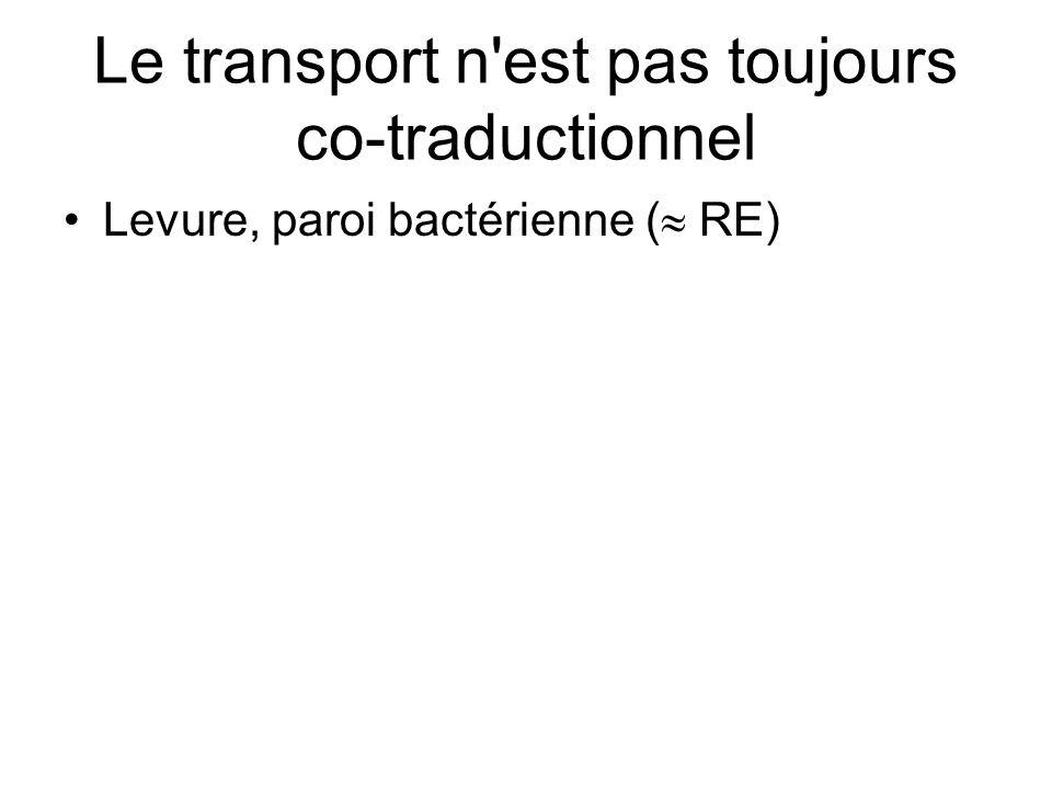 Le transport n est pas toujours co-traductionnel