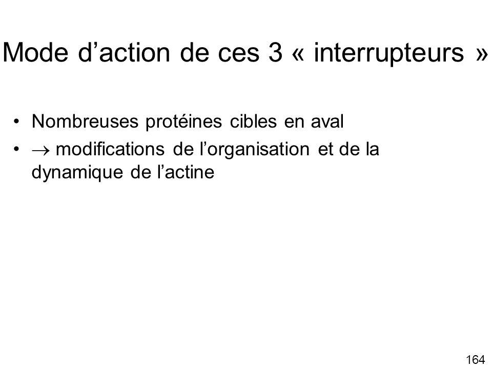 Mode d'action de ces 3 « interrupteurs »