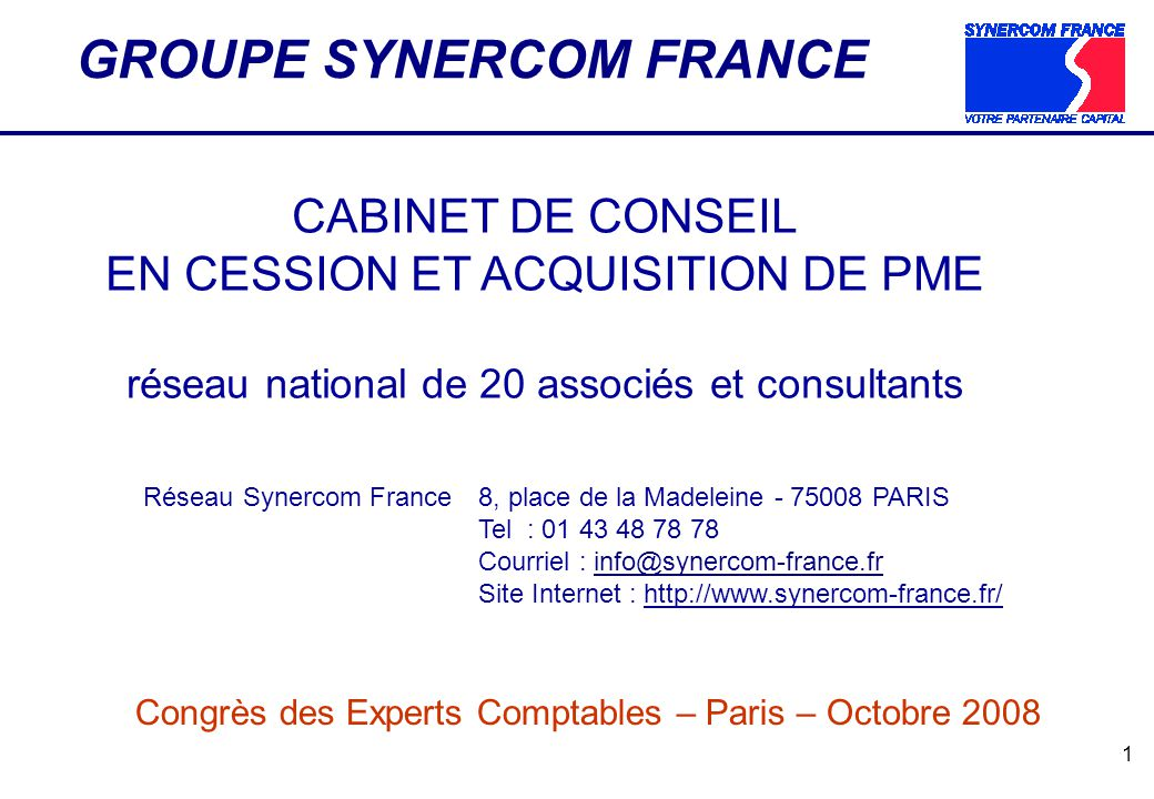 GROUPE SYNERCOM FRANCE