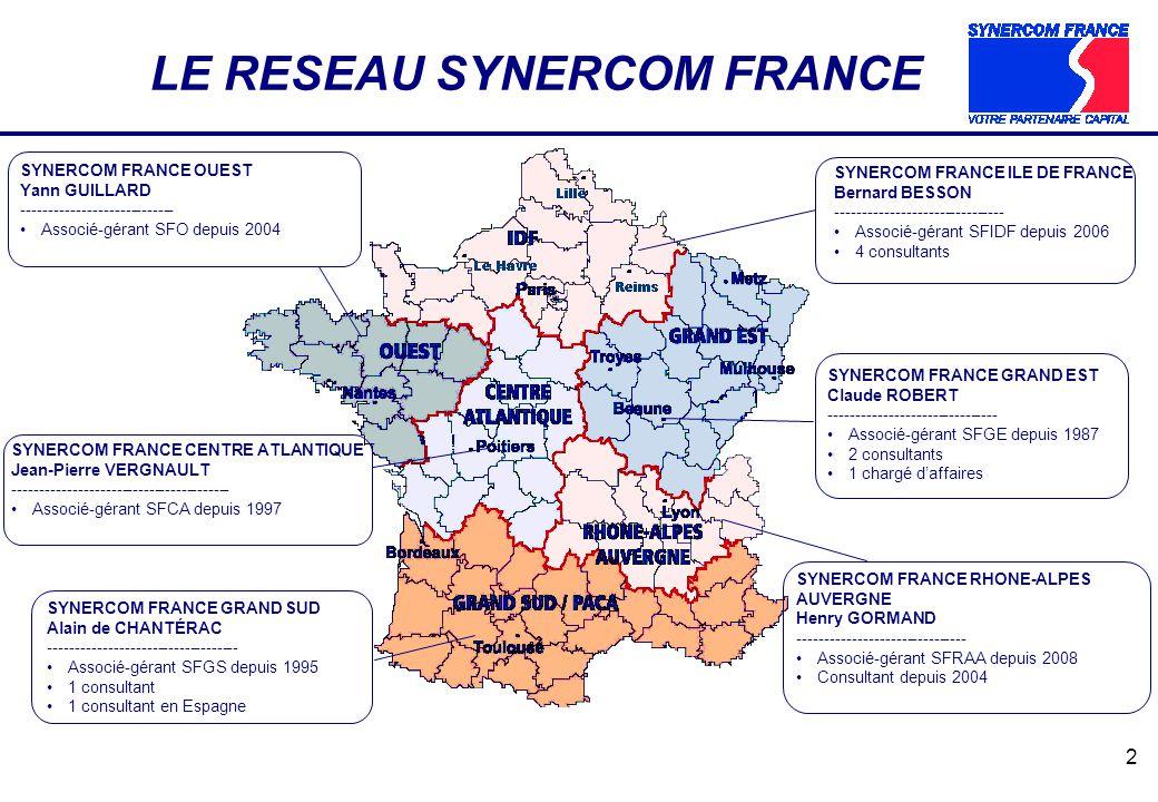 LE RESEAU SYNERCOM FRANCE