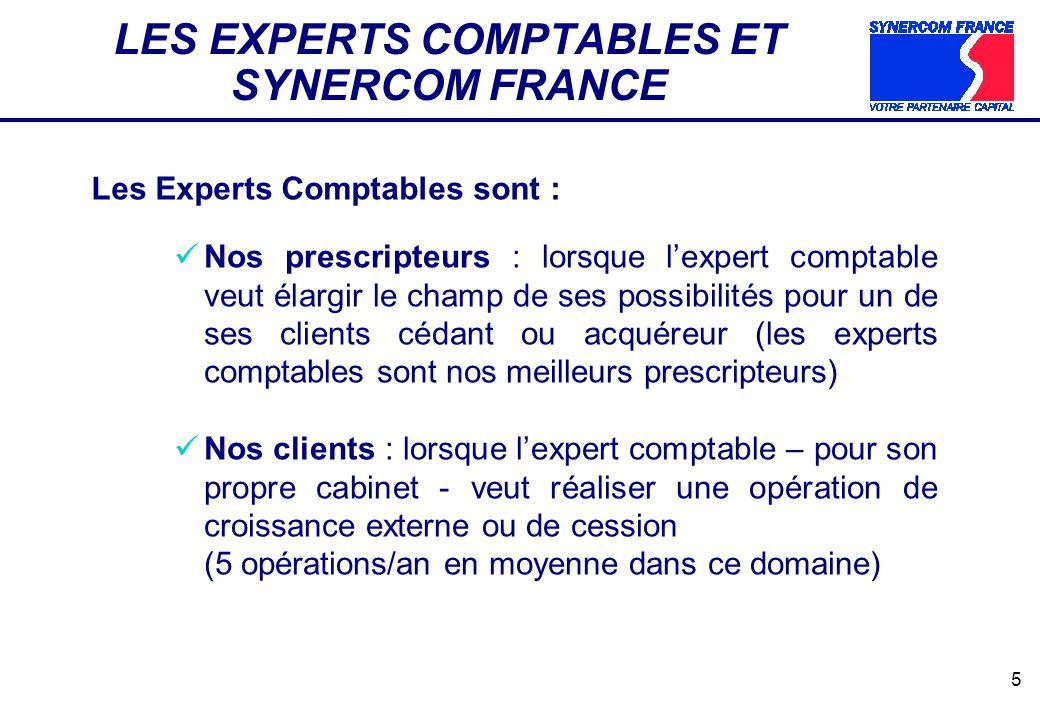 LES EXPERTS COMPTABLES ET SYNERCOM FRANCE