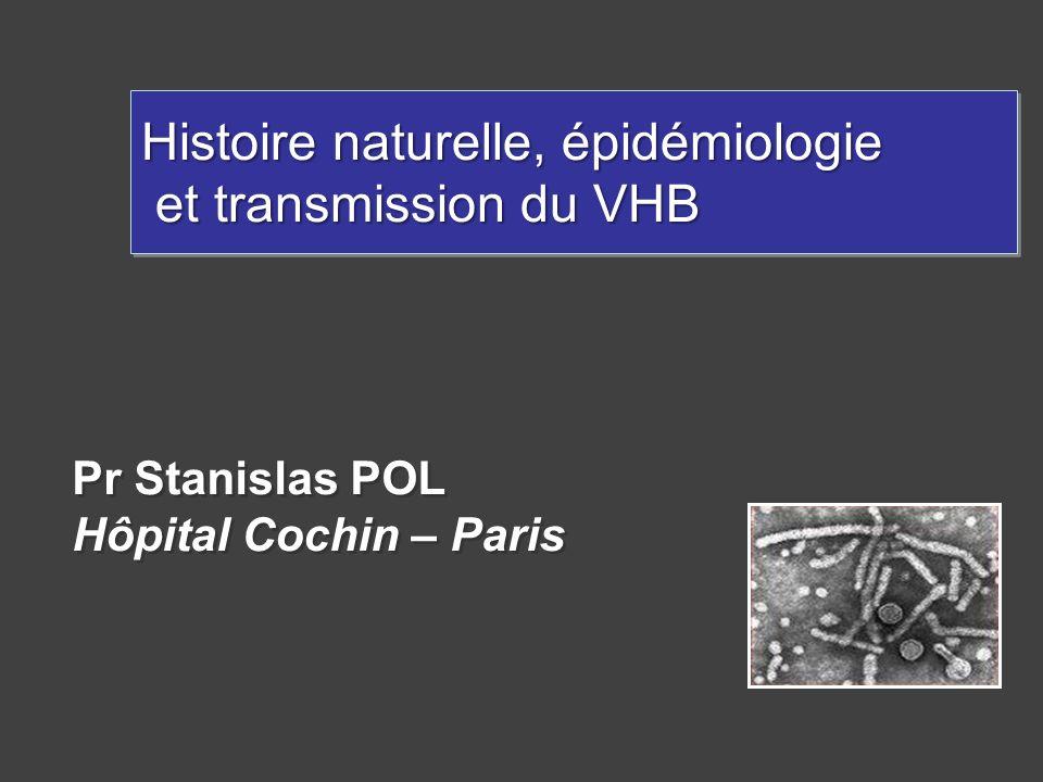 Histoire naturelle, épidémiologie et transmission du VHB
