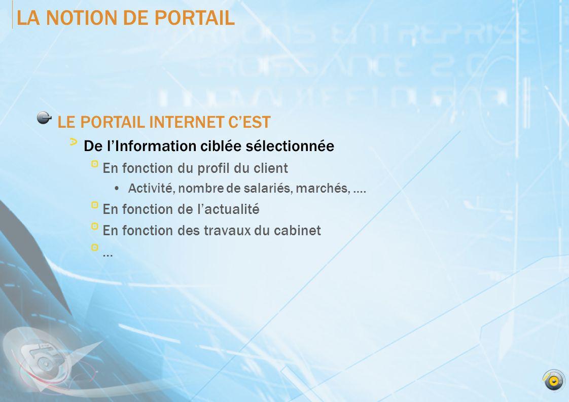 LA NOTION DE PORTAIL LE PORTAIL INTERNET C'EST