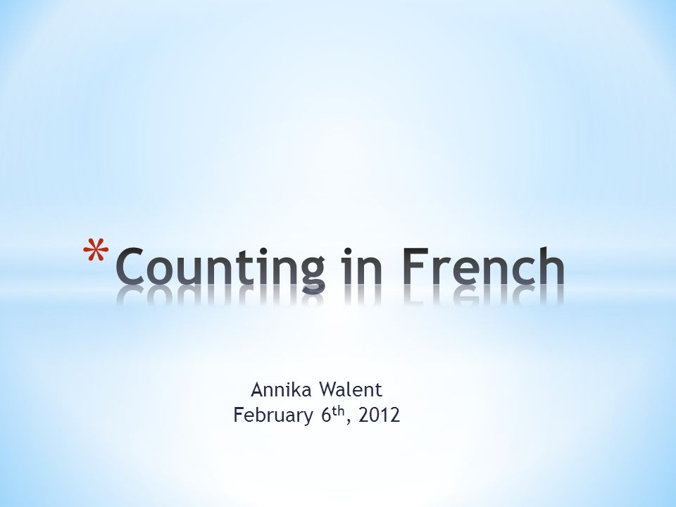 Annika Walent February 6th, 2012