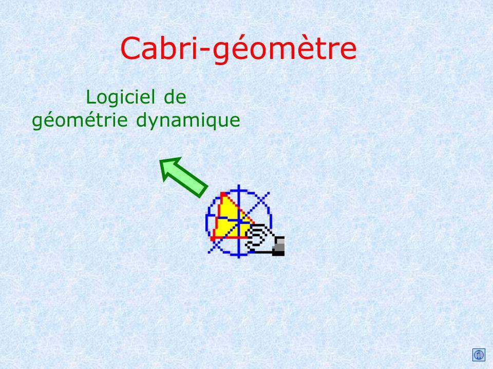 Cabri-géomètre Logiciel de géométrie dynamique