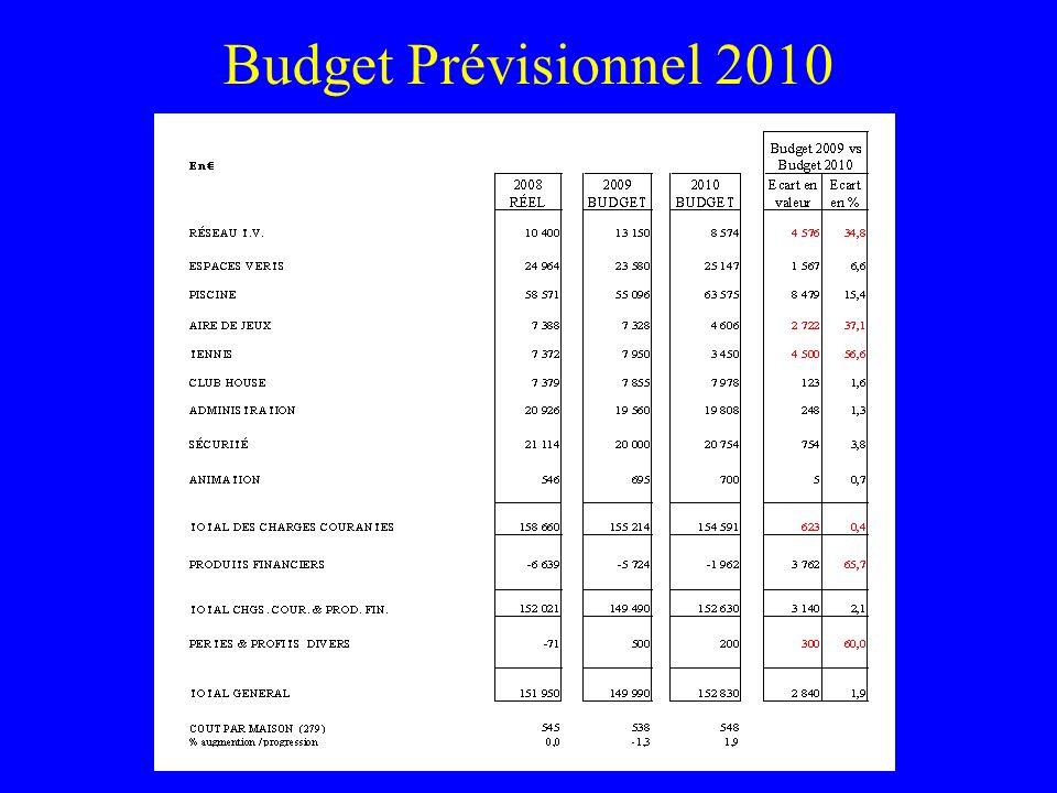 Budget Prévisionnel 2010
