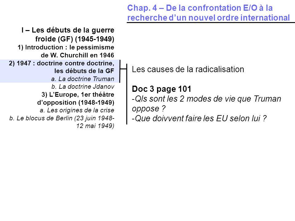 Les causes de la radicalisation Doc 3 page 101