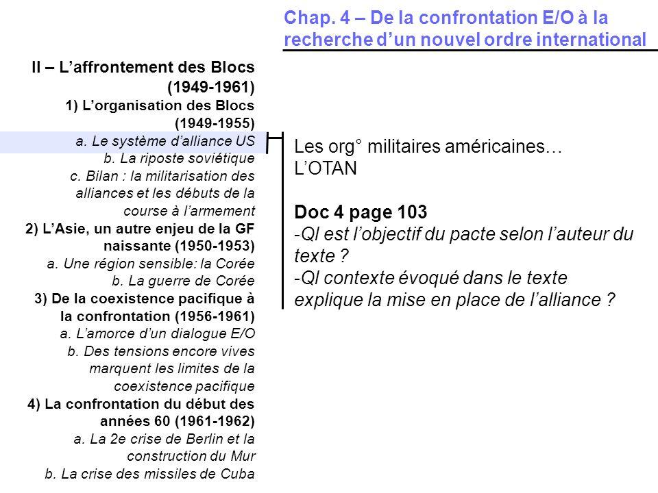 Les org° militaires américaines… L'OTAN Doc 4 page 103