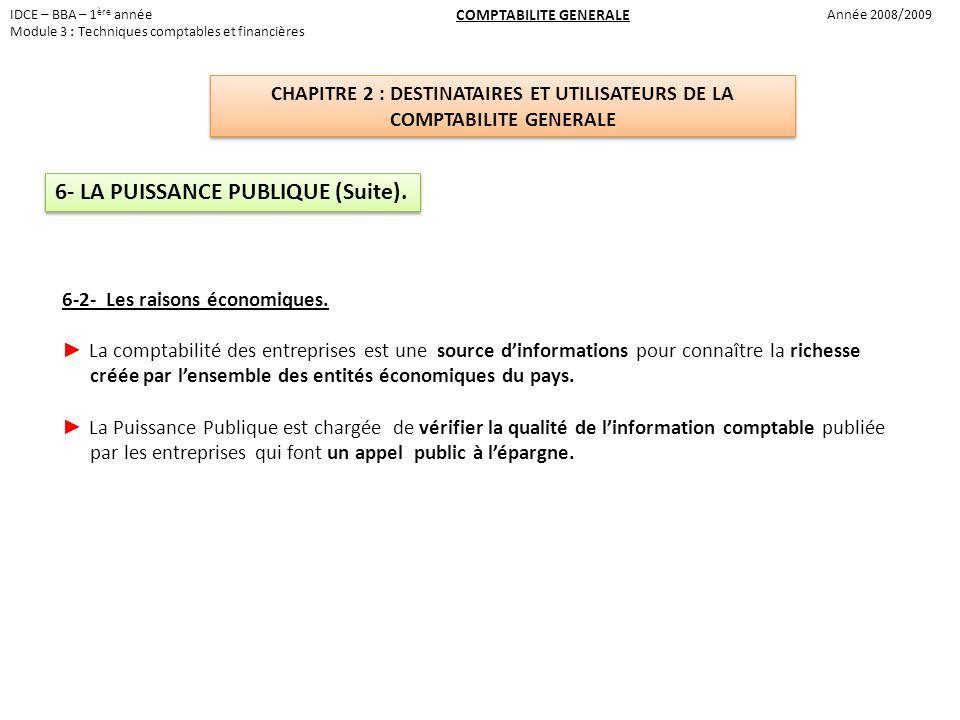 6- LA PUISSANCE PUBLIQUE (Suite).
