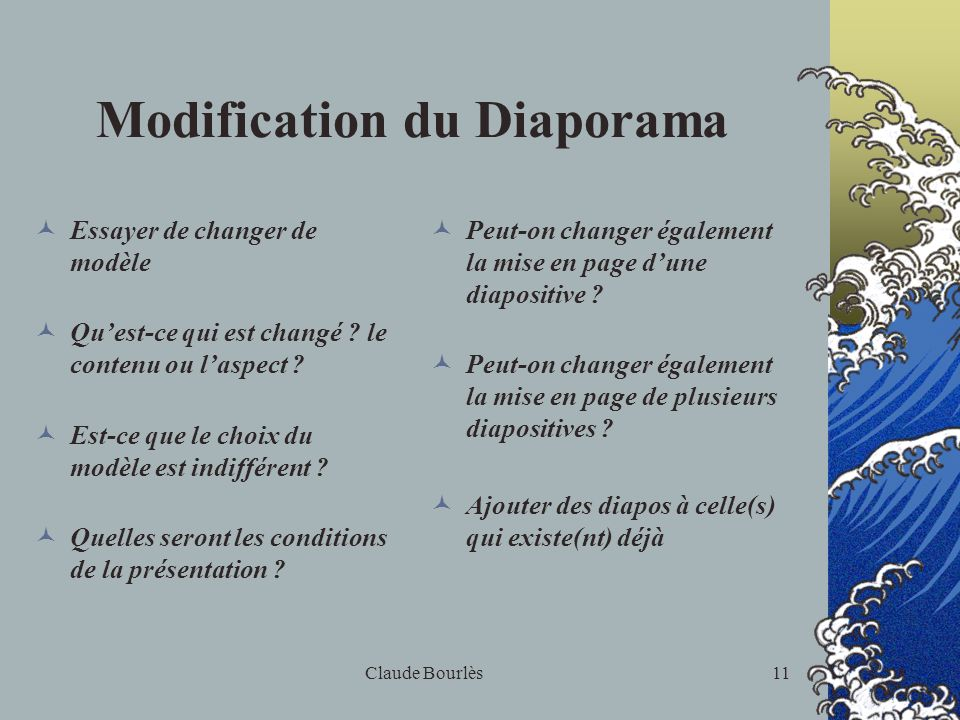 Modification du Diaporama