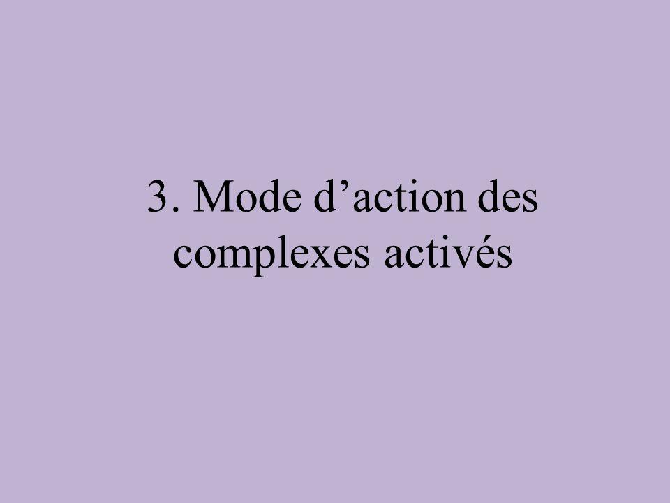 3. Mode d'action des complexes activés