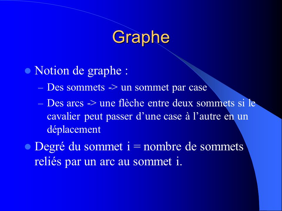 Graphe Notion de graphe :