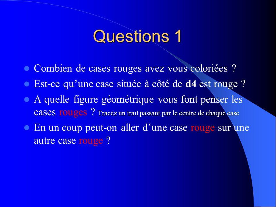 Questions 1 Combien de cases rouges avez vous coloriées