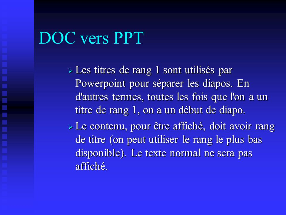 DOC vers PPT