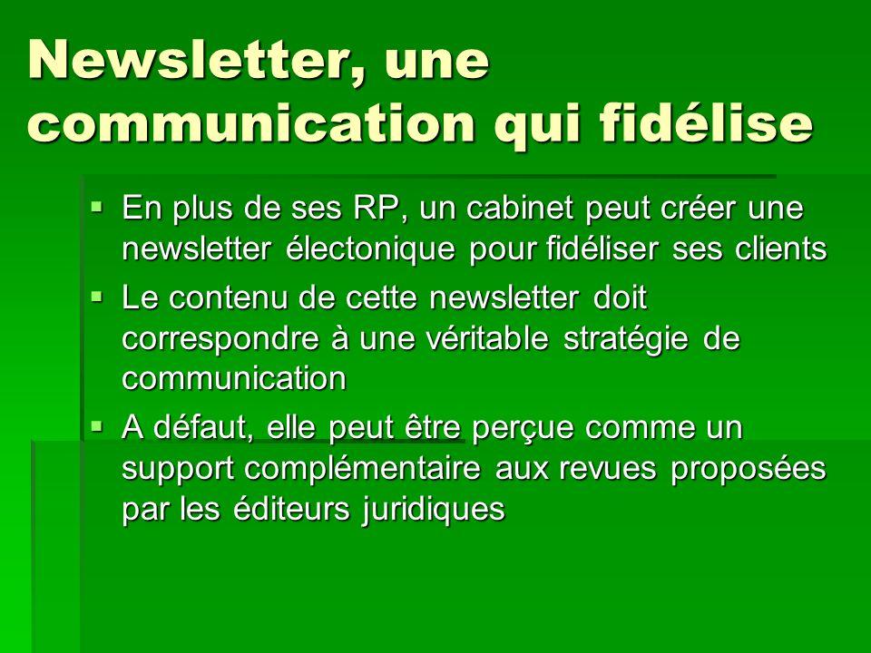 Newsletter, une communication qui fidélise