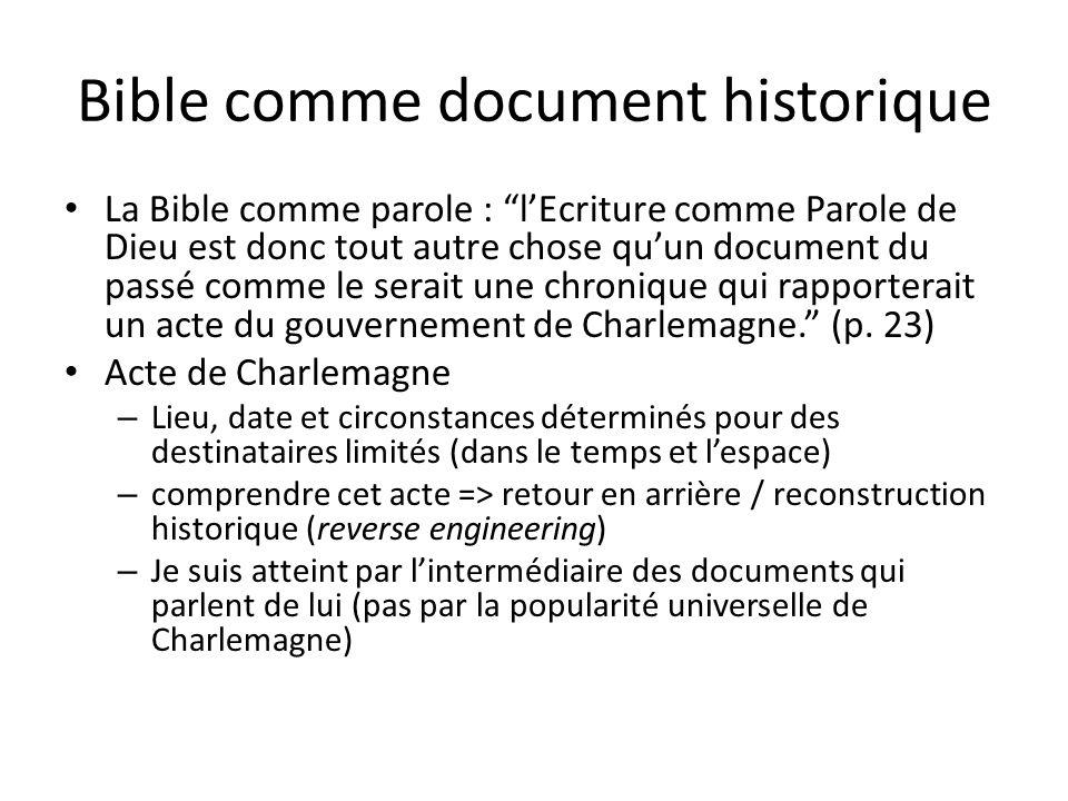 Bible comme document historique