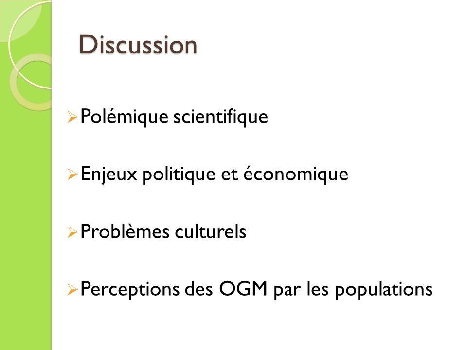Discussion Polémique scientifique Enjeux politique et économique