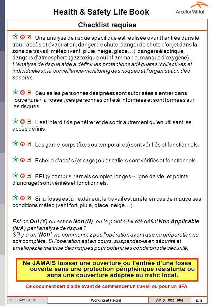 Ce document sert d'aide avant de commencer un travail ou pour un SFA.