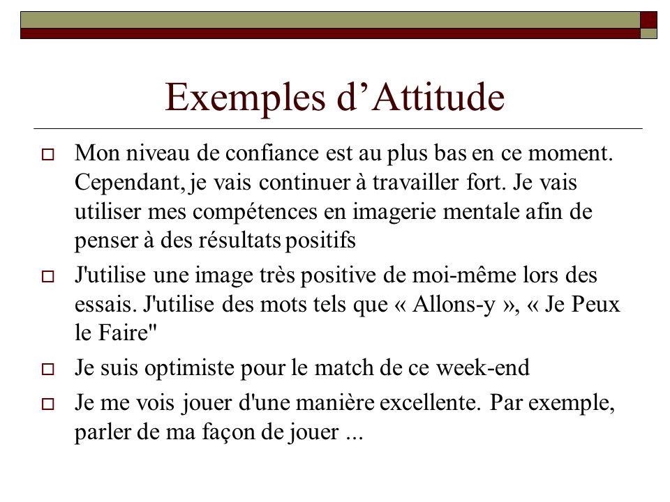 Exemples d'Attitude