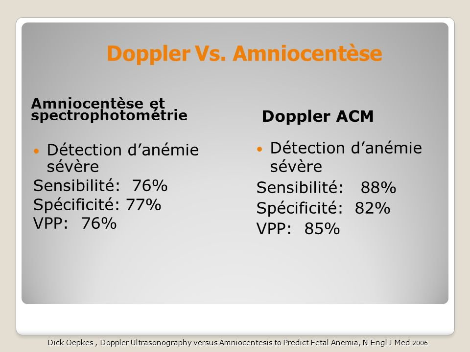 Doppler Vs. Amniocentèse