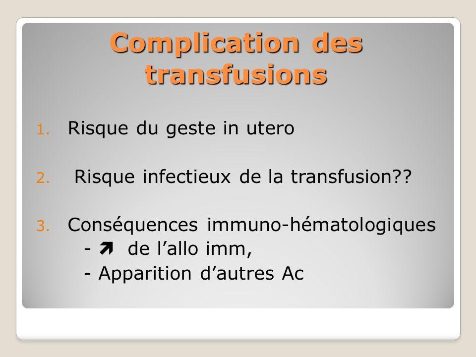 Complication des transfusions
