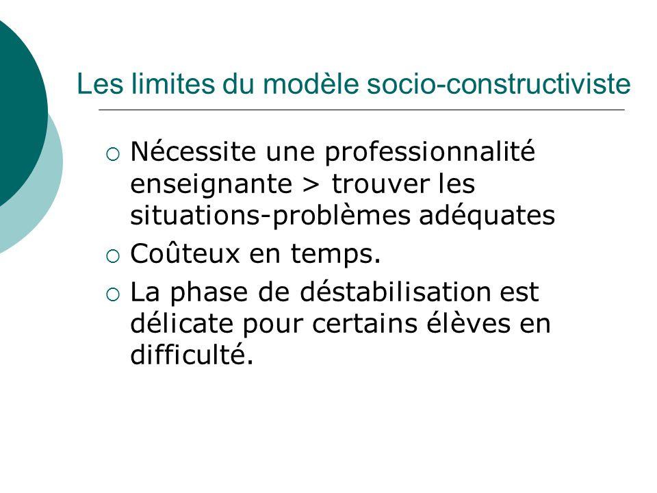 Les limites du modèle socio-constructiviste