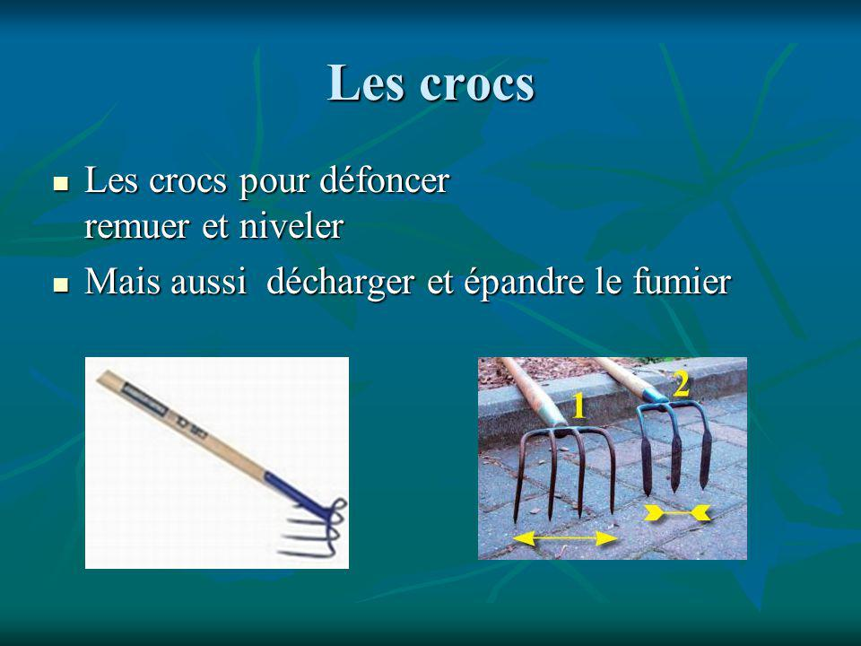 Les crocs Les crocs pour défoncer remuer et niveler