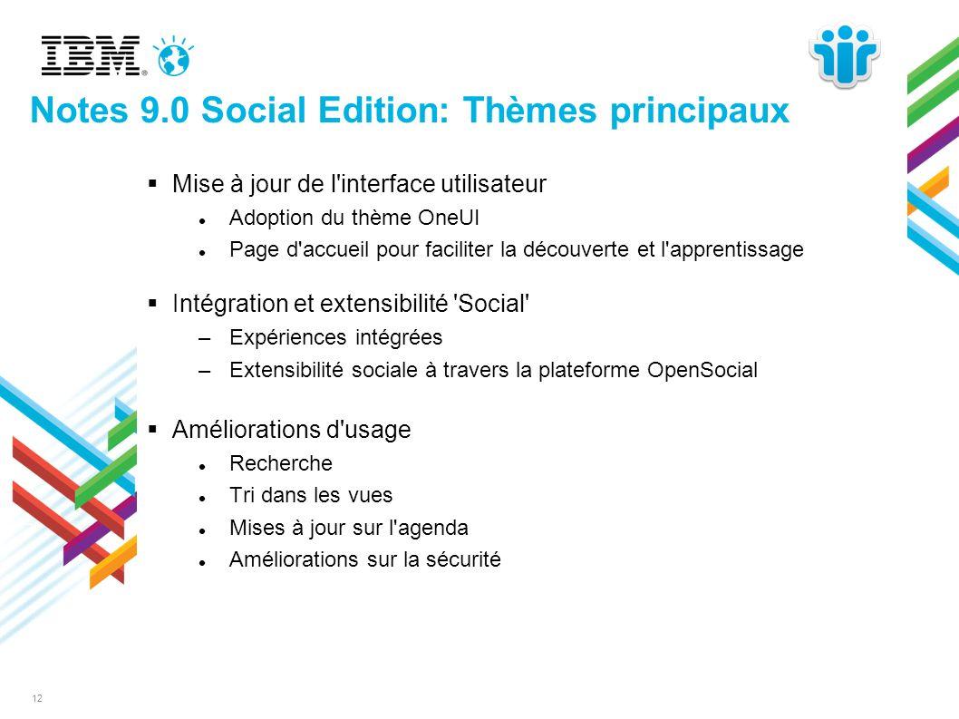 Notes 9.0 Social Edition: Thèmes principaux