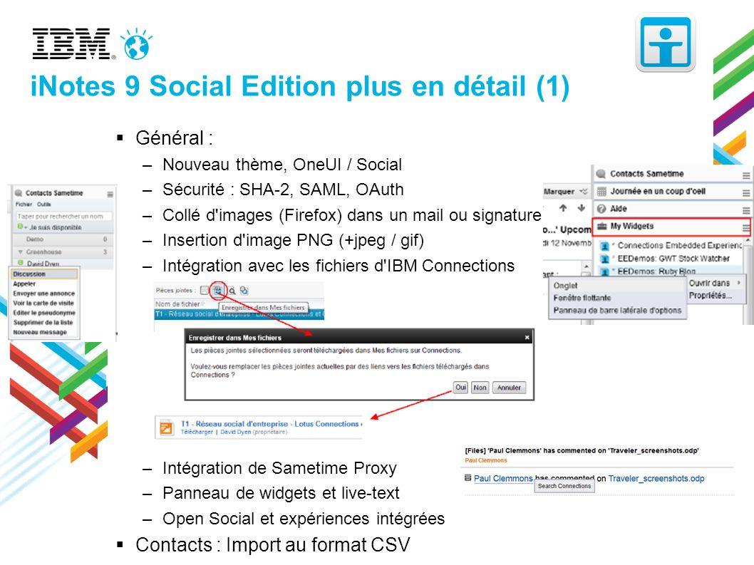 iNotes 9 Social Edition plus en détail (1)