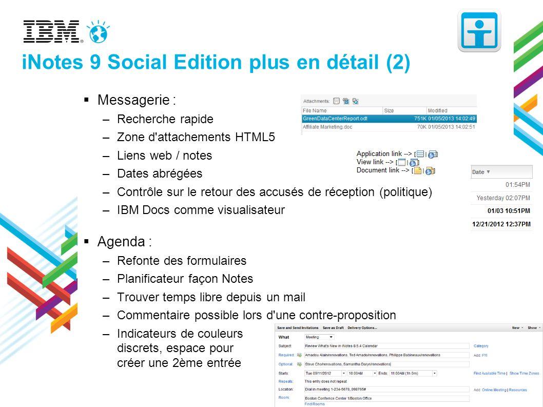 iNotes 9 Social Edition plus en détail (2)