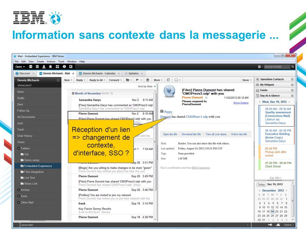Information sans contexte dans la messagerie ...