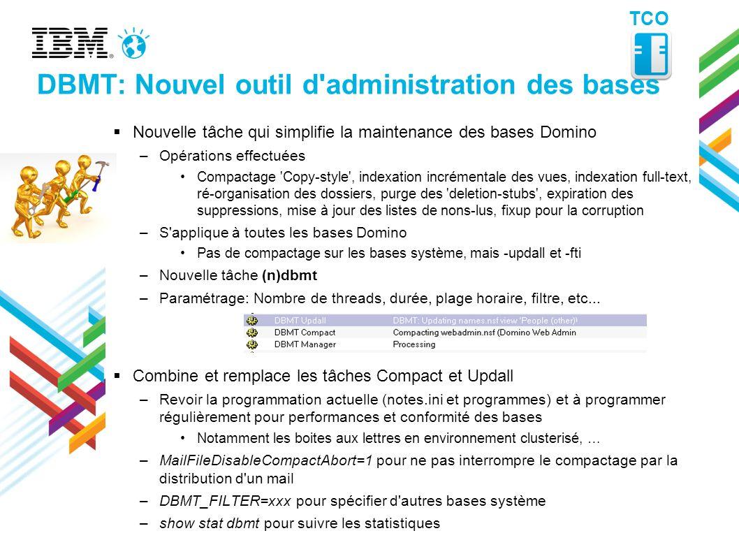 DBMT: Nouvel outil d administration des bases