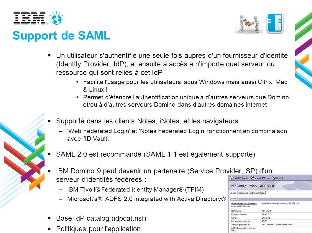 Support de SAML