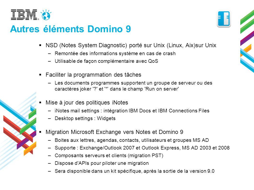 Autres éléments Domino 9