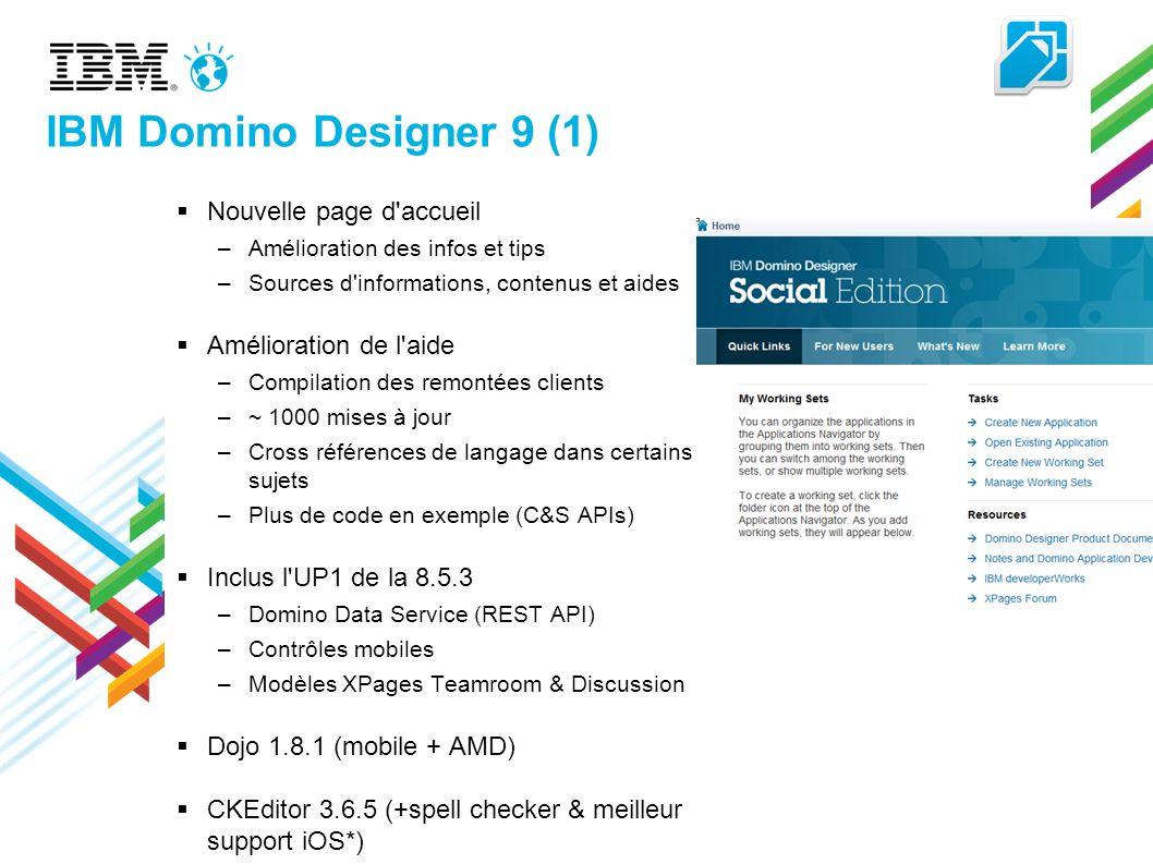IBM Domino Designer 9 (1) Nouvelle page d accueil