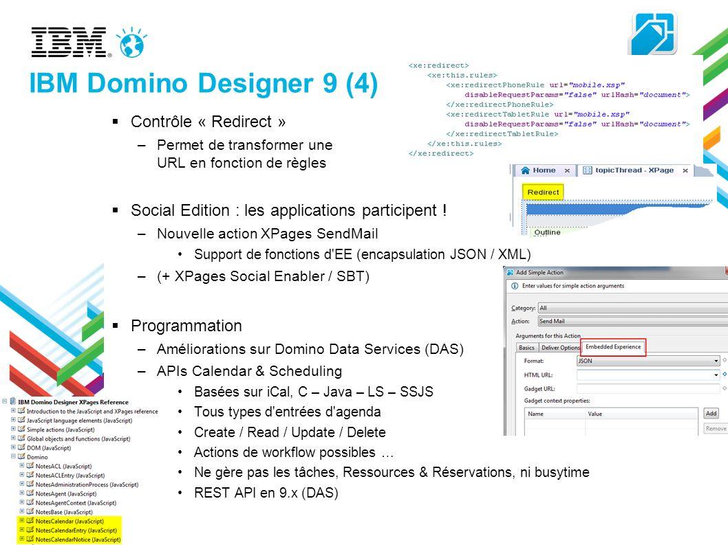 IBM Domino Designer 9 (4) Contrôle « Redirect »