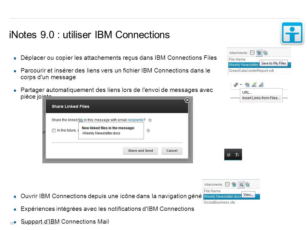 iNotes 9.0 : utiliser IBM Connections