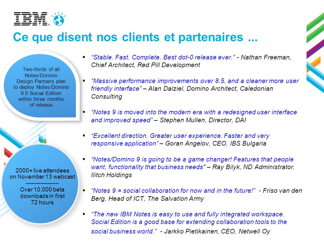 Ce que disent nos clients et partenaires ...
