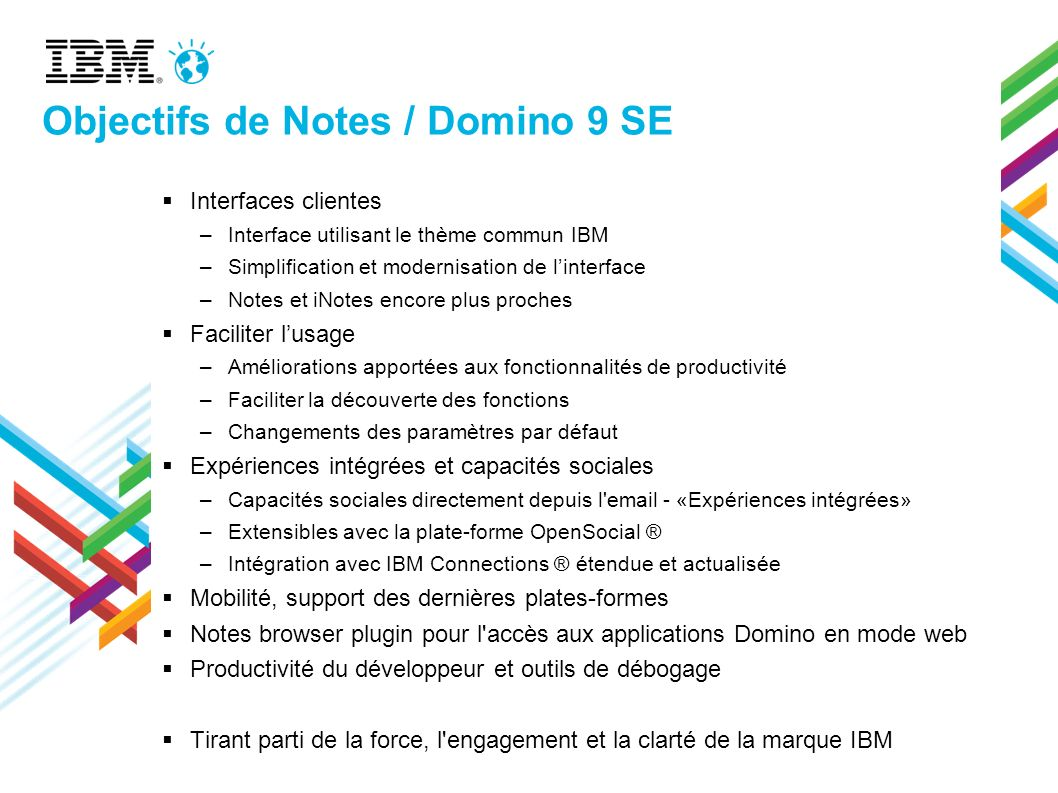 Objectifs de Notes / Domino 9 SE